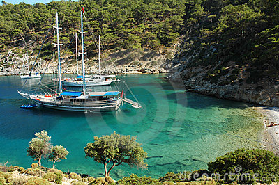 A secluded bay in the Turkish Mediterranean