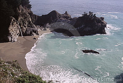 Secluded beach and cove