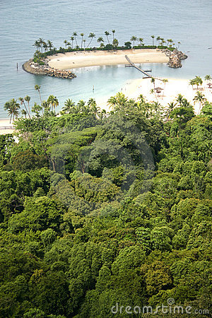 Secluded island in the tropics