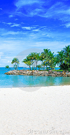 Free Secluded Lagoon With Clear Blue Sky Stock Image - 6328531