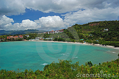 Secluded tropical beach on Grenada