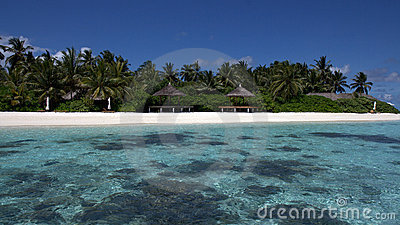 Secluded Tropical beach, Kandoludu, Maldives
