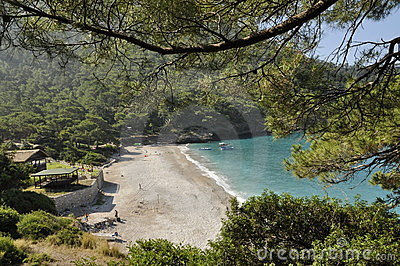 Secluded Turkish beach