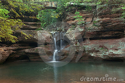 Secluded waterfall