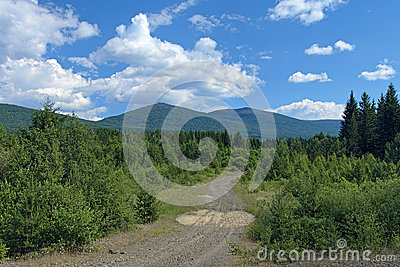 Second Bugor Mount and Third Bugor Mount in Northern Ural, Russi