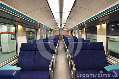 Second class wagon interior