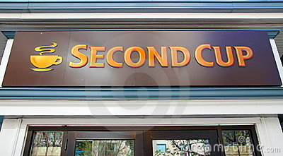 Second Cup Sign Editorial Image