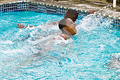 swimming second place finish