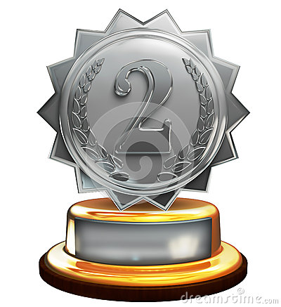 Second place silver award, number two, clipping mask
