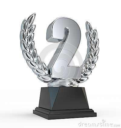 Second Place Trophy Cup Royalty Free Stock Images - Image: 25897269