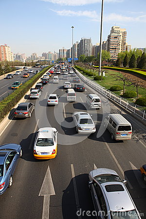 Second Ring Road in Beijing Editorial Photo