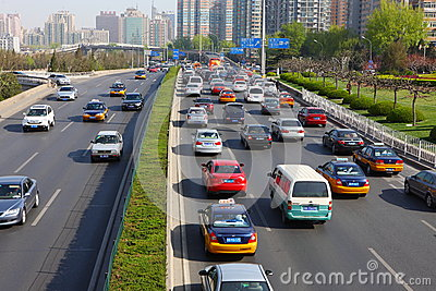 Second Ring Road in Beijing Editorial Photography