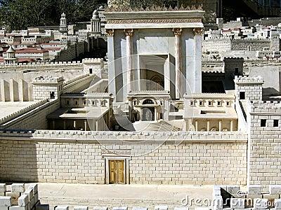 Second Temple.Model of ancient Jerusalem