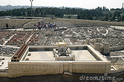 Second Temple Model, Jerusalem Editorial Stock Image
