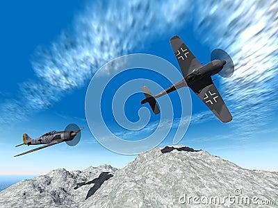 Second world war planes attack