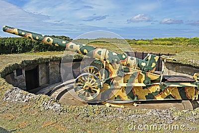 Second world war two gun