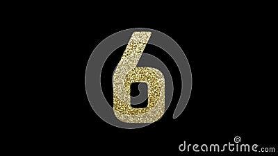 Secondo conto alla rovescia 10 con i numeri dorati di scintillio Passare tempo, concetto del ` s EVE del nuovo anno Animazione di stock footage