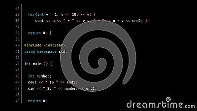 C++ Source Code Data Build Screen stock footage