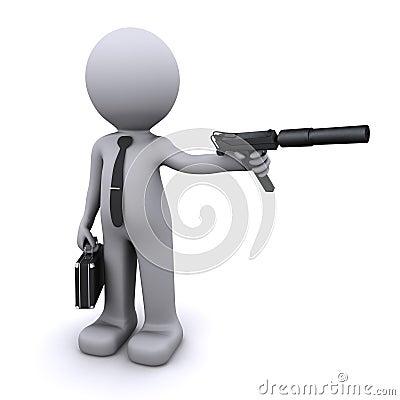 Secret agent/spy concept