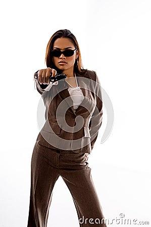 Secret Agent Woman Stock Photos Image 5710473