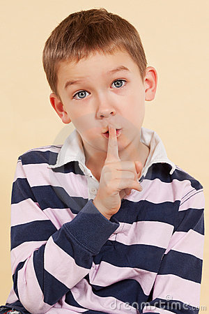 The secret. Finger over mouth. Psst.