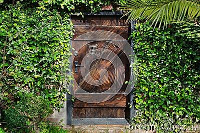 Secret Garden Door Horisontal Stock Image - Image: 17661691