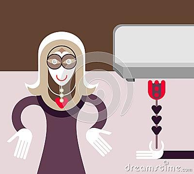 Secret lover - vector illustration