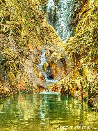 Secret Rock Pool in the Jungle