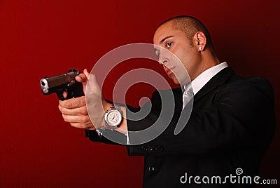 Secret service agent.
