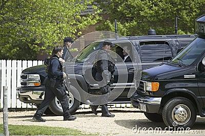 Secret Service agents Editorial Image