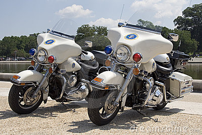 Secret Service Cycles Editorial Stock Image