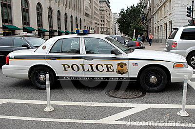 Secret Service Police Car in Washington DC Editorial Photography