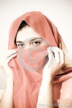 Secret smile arabian girl