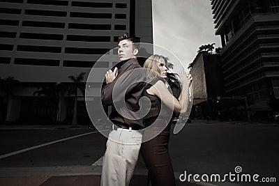 Secret spy couple