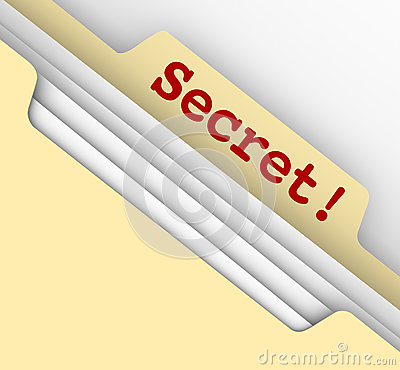 Secret Word Manila Envelope Classified Files Confidential Inform