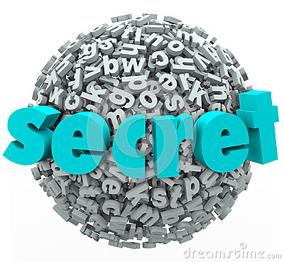 Free Secret Word Sphere Ball Confidential Secretive Information Stock Photo - 36646870