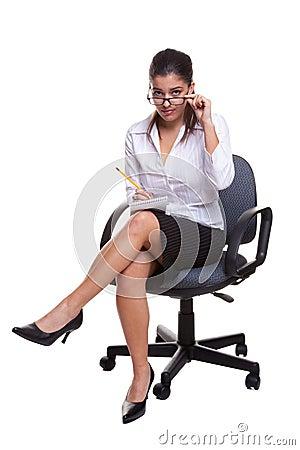 Secretaresse die nota 39 s neemt royalty vrije stock afbeeldingen afbeelding 9194939 - Secretaresse witte ...