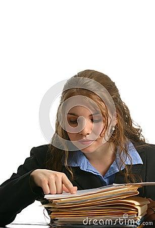 Secretaresse of onderneemster die dossiers bekijken stock afbeeldingen beeld 1726564 - Secretaresse witte ...