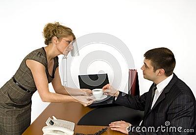 Secretary and boss.