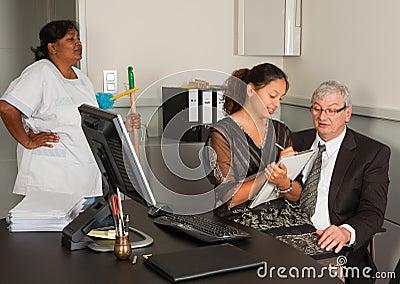 Secretary on manager lap