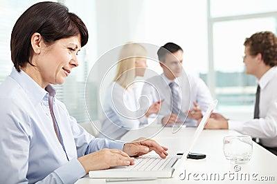 Secretary typing
