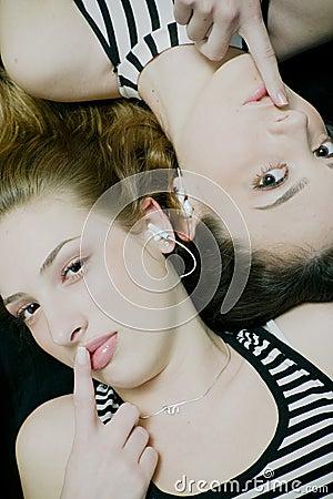 Free Secretive Music Girls Stock Photo - 2500480