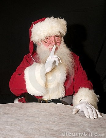 Free Secretive Santa Stock Photo - 10767540