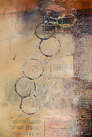 Free Section Of Mixed Media Abstract Painting Stock Photography - 8936292