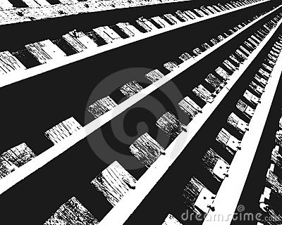 Section of Railroad Tracks