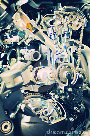 Free Section View From A Motorcycle Engine Royalty Free Stock Photos - 8928568