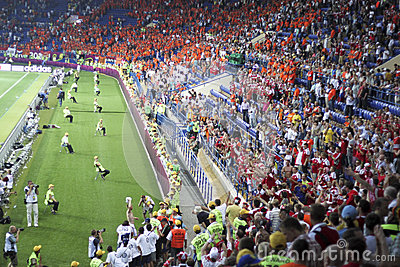 Sector Danish fans Editorial Stock Image