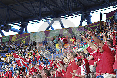 Sector Danish fans Editorial Image