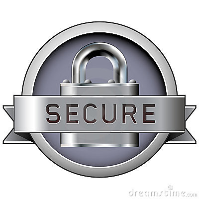 Free Secure Badge For Web Or Print Stock Photography - 8820862
