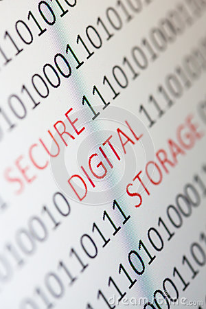 Secure digital storage